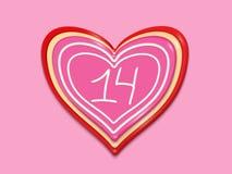 Feiertag stilisierte das Herz, das von den Bonbons gemacht wurde stockbild