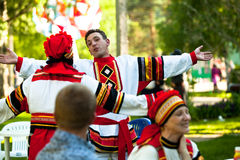 Feiertag Vepsian nationaler Kultur Baum des Lebens Lizenzfreie Stockbilder