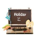 Feiertag, verpackter Koffer Stockbild