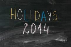 Feiertage 2014 Lizenzfreie Stockfotografie