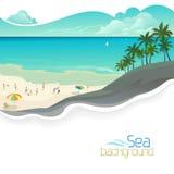 Feiertage auf Bahamas-Strandurlaubsort Stockbild