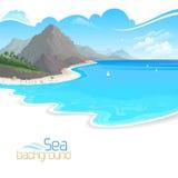 Feiertage auf Strandurlaubsort Lizenzfreies Stockbild