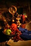 Feiertage dekorations mit Früchten Lizenzfreies Stockfoto