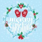 Feiertage der frohen Weihnachten Karte greating Lizenzfreies Stockfoto