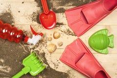 Feiertage, Ferien, Strand wendet, Oberteile, Naturholz ein Stockfotos