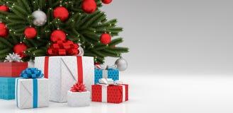 Feiertage, Geschenke, neues Jahr, Weihnachts- und Feierkonzept 3d übertragen stockfotos