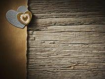 Feiertage kardieren mit Herzen Lizenzfreie Stockbilder