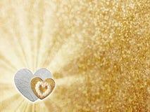 Feiertage kardieren mit Herzen als Symbol der Liebe Lizenzfreies Stockfoto