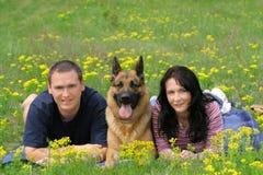 Feiertage mit einem Haustier Lizenzfreie Stockfotos