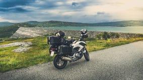 Feiertage mit Motorrad Lizenzfreie Stockbilder