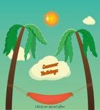 Feiertage mit Palmen Lizenzfreie Stockbilder