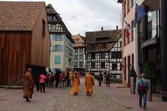 Feiertage in Straßburg Frankreich lizenzfreies stockfoto