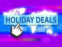 Feiertags-Angebote stellen Rabatt-Feiertage und billig dar stock abbildung