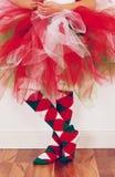 Feiertags-Ballettröckchen und -socken Stockbild