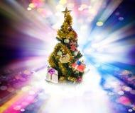 Feiertags-Baum Frohe Weihnachten Stockbild