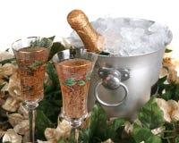 Feiertags-Champagne-Feier lizenzfreie stockfotos