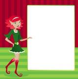 Feiertags-Elf-Bildschirmanzeige Lizenzfreie Stockbilder