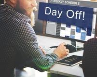 Feiertags-Ferien-Entspannungs-Flucht-Konzept des freien Tages Stockbild