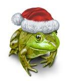 Feiertags-Frosch stock abbildung