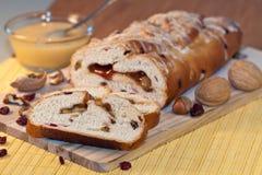 Feiertags-Frucht-Brot Stockfoto