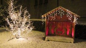 Feiertags-Geburt Christi stock video