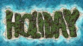 Feiertags-geformte Insel Lizenzfreie Stockfotos