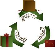 Feiertags-Geschenk-Rückkehr Stockfoto