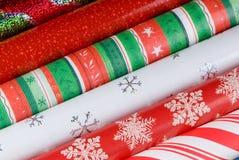 Feiertags-Geschenk-Verpackungs-Papiere Stockbilder