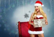 Feiertags-guten Rutsch ins Neue Jahr-Postkarte Tapeten-Schablone Stockfotos