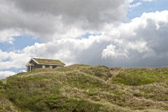 Feiertags-Häuser in den Sanddünen Stockfotos