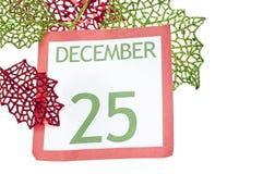Feiertags-Hintergrund mit Weihnachtskalender Stockfoto