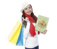 Feiertags-Käufer stockbild