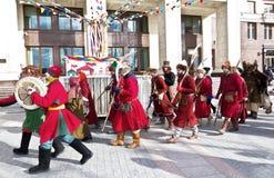 Feiertags-Karneval in Moskau Lizenzfreies Stockbild