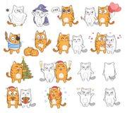 Feiertags-Katze Lizenzfreie Stockfotografie