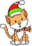 Feiertags-Katze-Vektor Stockfotografie