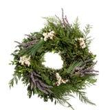 Feiertags-Kranz mit Lavendel Lizenzfreie Stockbilder