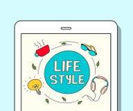 Feiertags-Lebensstil-Ideen-Schauer-Bruch-Freizeit entspannen sich Konzept stock abbildung