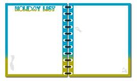 Feiertags-Listen-Notizblock Stockfotografie