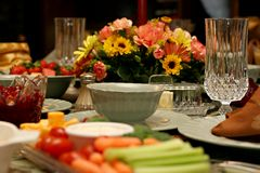 Feiertags-Mahlzeit Stockbilder