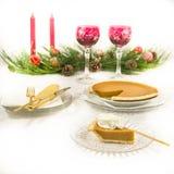 Feiertags-Nachtisch-Tabelle Stockfotos