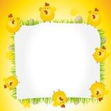 Feiertags-Ostern-Huhn-Plakat Stockfoto