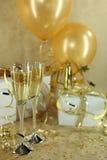 Feiertags-Party mit Champagne Lizenzfreie Stockfotos