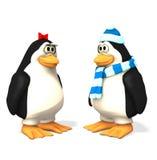 Feiertags-Pinguinset Lizenzfreies Stockbild