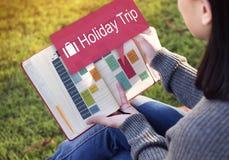 Feiertags-Reise-Ferien-reisendes Abenteuer-Konzept Lizenzfreie Stockbilder