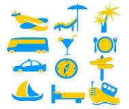 Feiertags-Reisen-Ikonen-Grafiken Stockfotografie