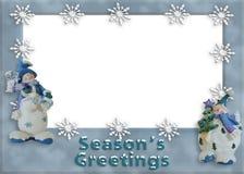 Feiertags-Schneemannrand Lizenzfreie Stockfotos