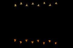 Feiertags-Vogel-im Flug leere Karte Lizenzfreie Stockfotos