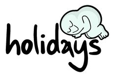Feiertagsaufkleber Lizenzfreie Stockfotos