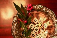 Feiertagsbuchstaben stockfotos