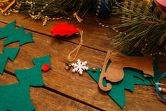 Feiertagsdekor Weihnachten und neues Jahr Stockfotos